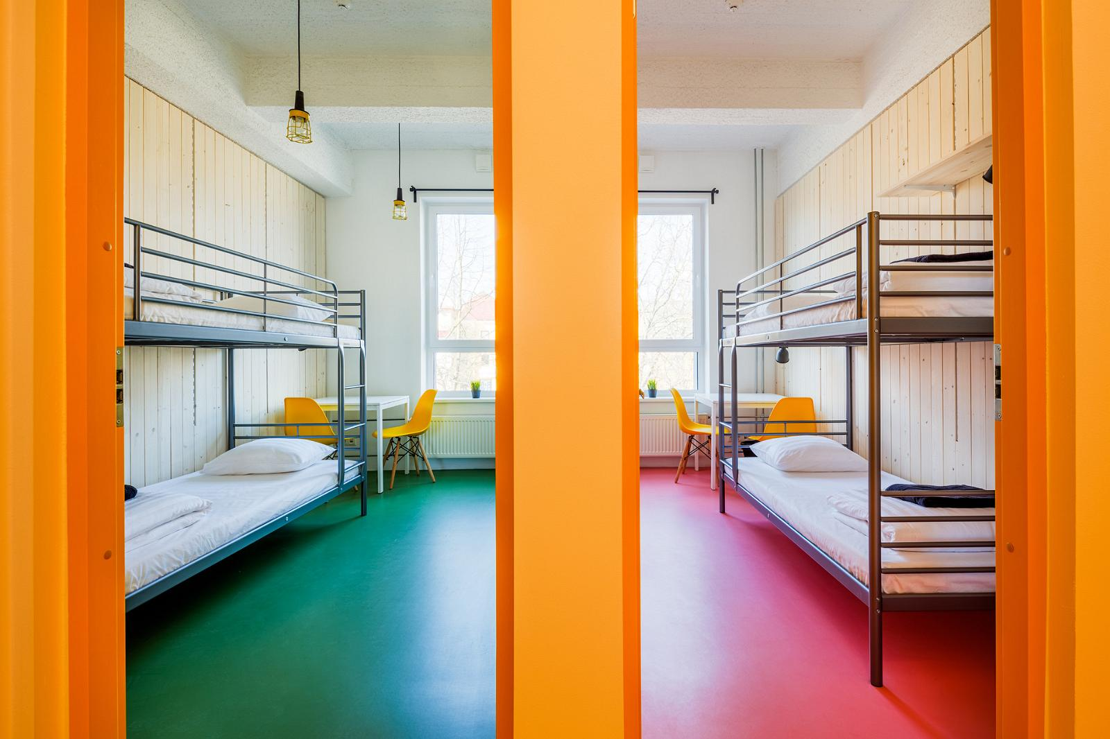 Tartu hostel i hektor design hostel i estonia - A Two Room Apartment With Bunk Beds