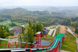 Skisprungschanze in Tehvandi