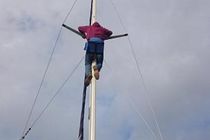 Only the bravest can climb the mast
