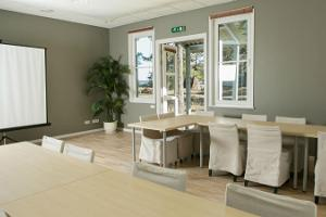 The seminar room can also be used as a private dining room