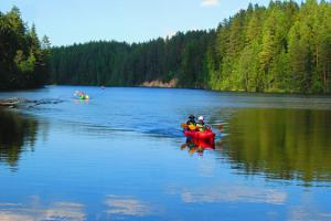 Kayaking trips in Taevaskoda