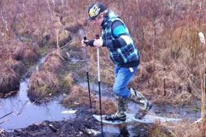 Bog shoeing on the edge of Europe