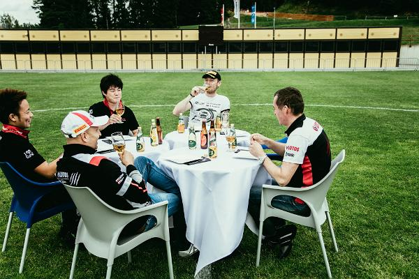 Estonian food challenge with top rally drivers