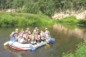 Fantastic rafting trip on the Ahja River