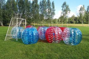 Bubble football at Nõmme Holiday Centre