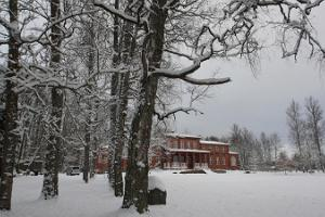Herrenhaus Allikukivi im Winter