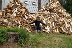 We need to stack firewood for winter!