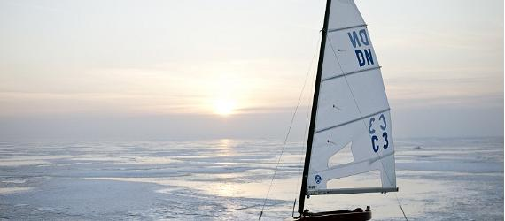 Sail in Estonia on ice