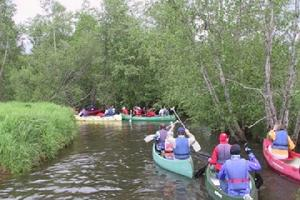 Canoe trip on River Elva