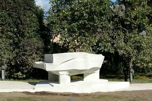 Music garden in Paide celebrating the birthplace of Arvo Pärt