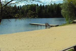 Sandy beach next to Lake Purgatsi