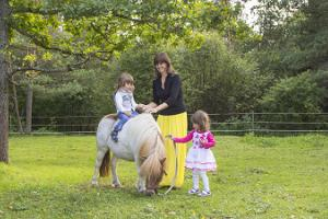 Pony ride and riding for children