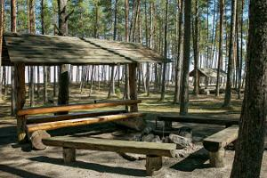 BBQ areas in the recreation centre, 50 m from the beach