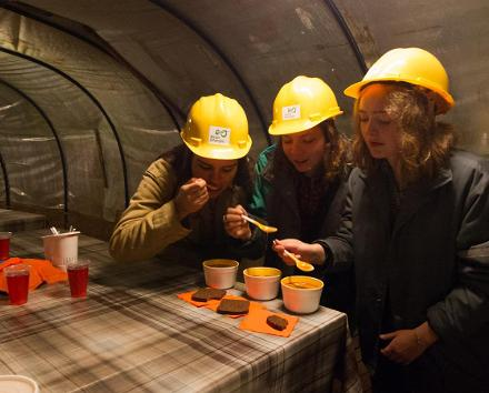 Underground restaurant of the Kohtla Mining Park