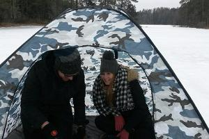 Nature tour and ice fishing on Viitna lake