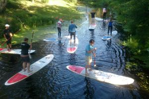 Aloha Surf Centre, SUP trip on the River Audru