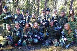 Paintball slag i Pidula