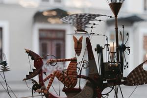 The windows of NUKU (Puppet) Museum present mechanical theater exhibitions