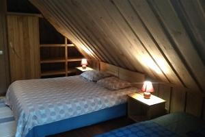 Markna Tourist Farm. Sauna. Blue bedroom.