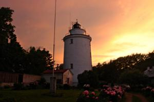 Suurupi upper lighthouse, sunset in the summer