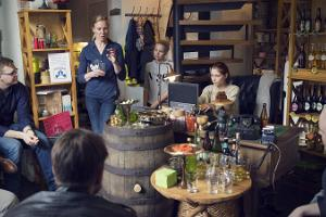 Craft cider tasting at the Cider Specialty Shop Siidrimaja