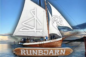Sea adventure on a wooden yacht Runbjarn (Ruhnu
