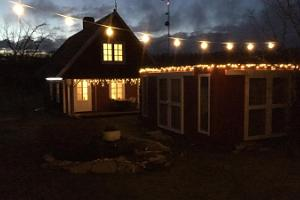 Sarapuu Home Accommodation in Christmas lights