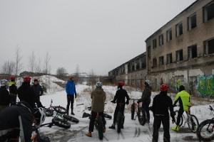 Discovering Rummu quarry on a fatbike
