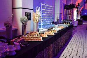 Catering in the lightning hall