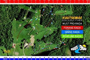 Kuutsemäe Disc Golf, map
