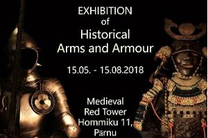 An exhibition of historical arms and armour at the Red Tower
