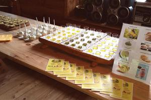 Tasting hemp products from Tammejuure Organic Farm