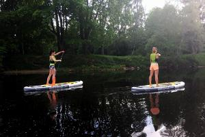 SUP hike on River Pirita
