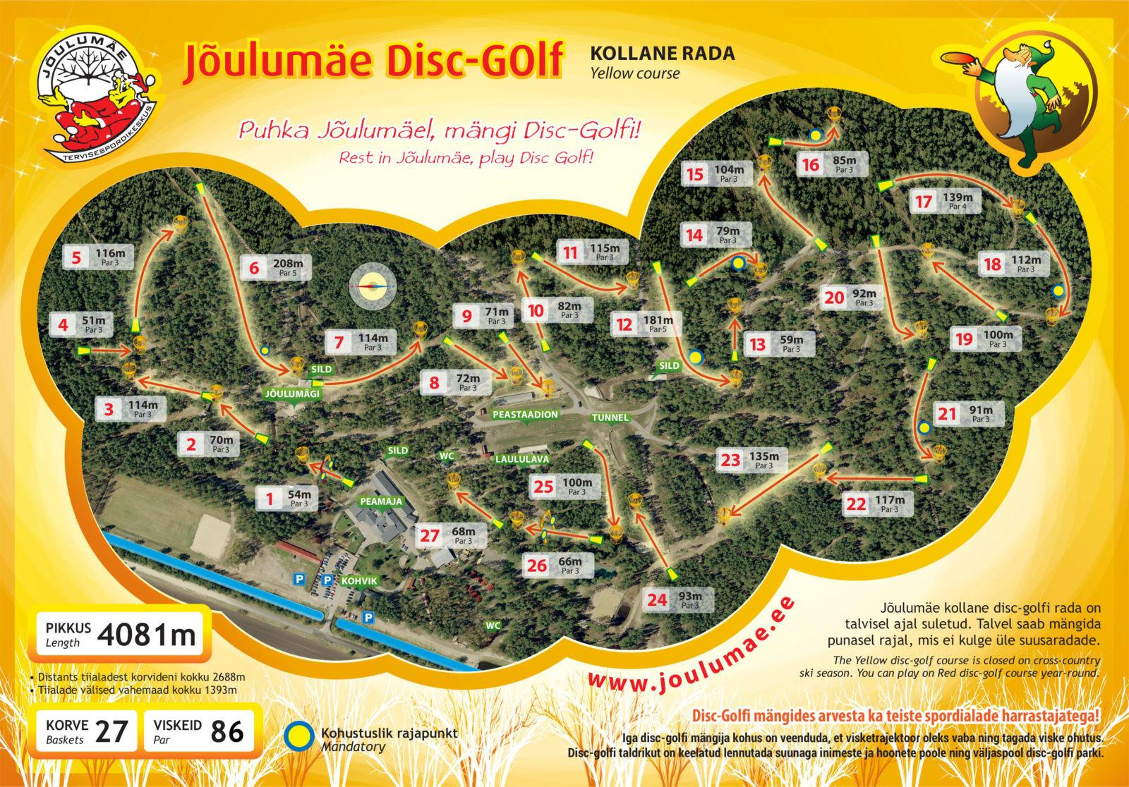 golf joulu 2018 Disc golf at the Jõulumäe Sports and Recreation Centre, Estonia golf joulu 2018