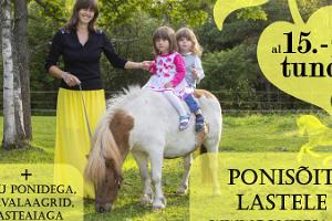 Pony ride and riding for children, flyer
