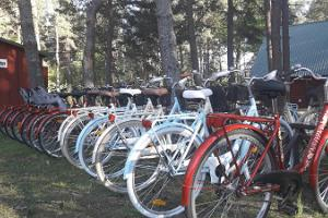 Bike hire at Kihnu Harbour