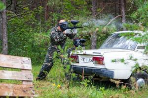 Paintball in Tallinn, at a former Soviet military base