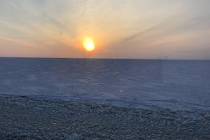 Discover Kihnu in winter, sunset in winter