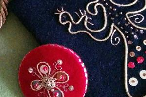 Gold embroidery items