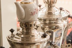 Samovar tea ceremony with a candle workshop and the Devil's temptation
