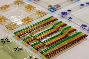 A selection of glass trays