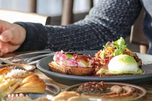 Cafe/Restaurant EYJA serves delicious lunches, dinners, and brunch on Saturdays.