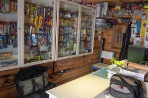 Bait Shop also sells lures and equipment