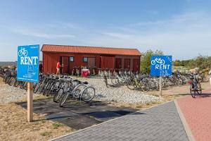 The largest bike rental of the island at the Kihnu harbour
