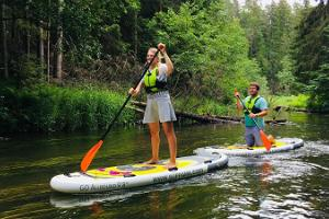 SUP board hike on the magical River Ahja