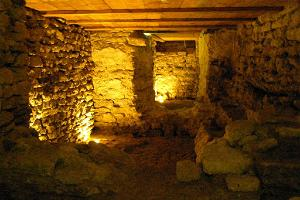 The medieval paasages of Kiltsi castle in the basement