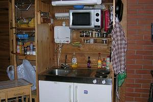 Kitchen at the Holiday House of the Kalda Tourist Farm