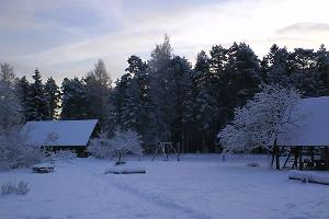 Winter at the garden of Markna Tourist Farm