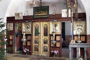 The iconostasis in Paadrema Church