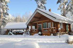 Koru Holiday Home and pavilion in winter